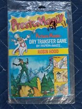 78' Vintage Presto Magic Robin Hood Dry Transfer Game.  Sealed.