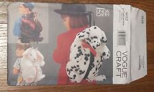 "Vogue 9112  Dog Bunny Bear Backpack 17"" x 10""  Fake Fur Fun Linda Carr Pattern"