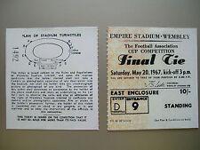 1967 F.A. Cup Final Ticket Tottenham Hotspur v Chelsea Mint condition.
