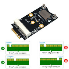 Mini PCI-E to M.2 NGFF Key A/E Adapter with SIM Card Slot for 3G/4G New Trendy