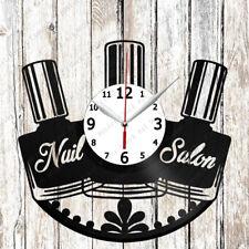 Nail Salon Vinyl Wall Clock Made of Vinyl Record Original gift 2558
