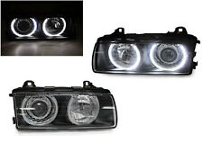 DEPO UHP LED P36 Projector Glass Angel Halo Headlight For 92-99 BMW E36 3 Series
