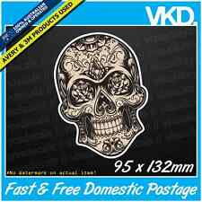 Sugar Skull 025 Sticker/ Decal - Candy Tattoo Vintage Vinyl Laptop Window Tribal