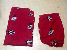 Georgia Bulldogs NCAA Crib Comforter Blanket + Fitted Sheet Baby Bedding *WoW*