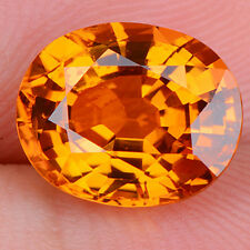 Unheated 28.76CT CHAMPAGNE SAPPHIRE 15X20MM OVAL SHAPE AAAA COLOR LOOSE GEMSTONE