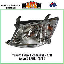 HEADLIGHT fit TOYOTA HILUX L/H LEFT PASSENGER SIDE 2008-2011 2WD 4WD STYLESIDE
