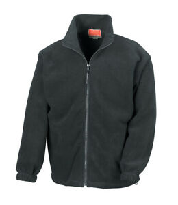 Black Result Full Zip Fleece Jacket, Ideal Gift