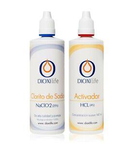 Dioxilife ® ➤ CLORITO DE SODIO + ACTIVADOR 140 ml ➤ Precursor DIÓXIDO DE CLORO