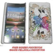 Pellicola+custodia BACKCOVER SF BIANCO FARF MULTI per LG Optimus 4X HD P880 (C7)