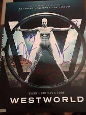 WESTWORLD CAST SIGNED 11x14 PHOTO! THANDIE NEWTON JAMES MARSDEN AUTOGRAPH!