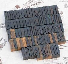 "a-z alphabet 1.42"" letterpress wooden printing blocks wood type Vintage printer."