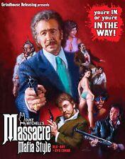 MASSACRE MAFIA STYLE , BLU-RAY & DVD , GRINDHOUSE RELEASING , OOP , REGION A,B,C