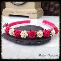 ROSE FLOWER ALICEBAND TIARA* Wedding Hair Accessories*Bridesmaid*Flowergirl*Boho