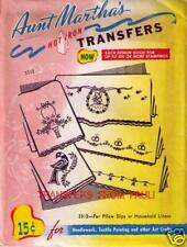 For Pillow Slips Retired Aunt Martha's Transfer for Embroidery uncut & unused