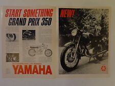 1967 vintage motorcycle magazine print ad yamaha grand prix 350