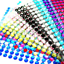 Rhinestone Stickers Diamante Gem Sparkle Strip Crystal Stick on Nail Art Crafts