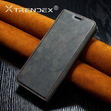 Original TRENDEX Vintage Leather Wallet Flip Card Case Cover For Samsung Galaxy