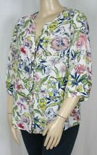 Millers 3/4 Sleeve Button Down Shirt Floral Tops & Blouses for Women