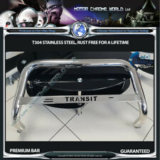 FITS TO FORD TRANSIT BULL BAR CHROME NUDGE LOGO A-BAR S.STEEL 2006-2013 NXL1 NEW