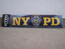 1 x 30 cm nypd new york police department bumper sticker policía pegatinas rar