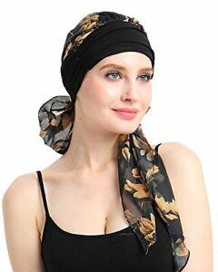 Soft Chemo Bandana Pre-Tied Scarves Head Wrap Cancer Headwear
