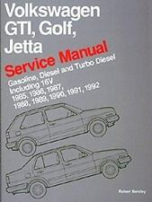 Volkswagen GTI Golf-Jetta Service Manual, 1985-1992 by Bentley (1990, Paperback)