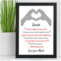 I Love You Personalised Birthday Gifts for Couples Husband Wife Her Girlfriend