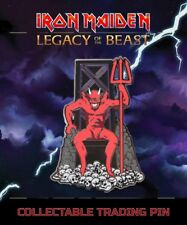 "IRON MAIDEN NUMBER OF THE BEAST 2"" Metal Trading Pin 666 Legacy of the Beast NEW"