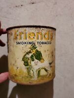 Vintage Friends Smoking Tobacco Tin 14oz Can Hunting Dog w/ lid