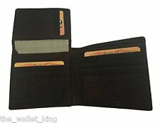 Spikes & Sparrow Deluxe Bi-Fold Buffalo Leather Wallet in Dark Brown