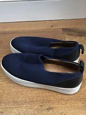Whistles Navy Flat form Shoes, Size EU39, UK6