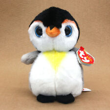 "6"" Ty Beanie Boos Boo Penguin Pongo Stuffed Plush Animal Kids Baby Soft Toys"