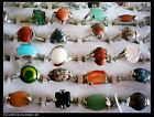 Wholesale bulk lots 25pcs Mixed assorted natural stone Turquoise Rings jewelry