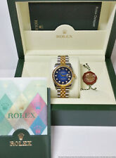 Genuine Rolex Datejust Diamond Dial 116233 Mens Wrist Watch Box and Papers