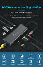 9-in-1 Type-C Docking Station 3-port USB / HDMI / SD / TF Converter PD Charging