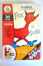 LeapPad Dr. Seuss Fox in Socks 1st Grade Reading Book & Cartridge - NEW SEALED