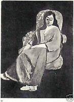 HENRI MATISSE 1935 LITHOGRAPH w/COA. Superb Exclusive Print of Elegant RARE ART