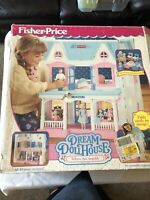 *Vintage 1993 Fisher Price Loving Family DREAM DOLLHOUSE Folding Doll House 6364