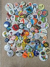 More details for pin badges x115 job lot vintage retro rare badges 1970s 1980s