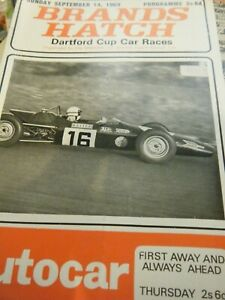 BRANDS HATCH PROGRAM 1969 DAVE BRODIE RUN BABY RUN F3 LOTUS 59 MO NUNN ROY PIKE