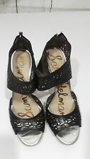 Sam Edelman laser cut black sandals size 10