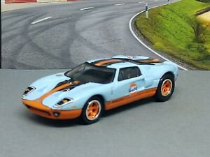 2005 FORD GT GULF OIL RACING LIMITED EDITION ADULT COLLECTIBLE 1/64 MUSCLE CAR