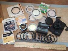 Vintage Camera Accessories 25 Lot Fiters lens Etc Hoya Vivitar Tiffen Sandmarc