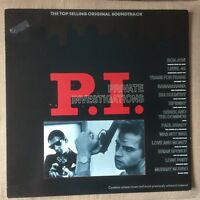 P.I. PRIVATE INVESTIGATIONS SOUNDTRACK EX/NEAR MINT VINYL LP PRINTED INNER PROMO