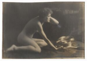 Beautiful Soft-Focus Art Photograph of a Nude Woman 1915-Style of Genthe-Brigman
