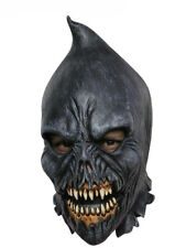 HOODED FANGED EXECUTIONER LATEX SCARY HEAD MASK HALLOWEEN HORROR