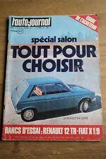 L'auto-journal n° 17 // special salon 73 - renault 12 - fiat X 1/9 - peugeot 104