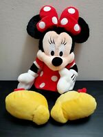Disney Parks Minnie Mouse Plush 20 Inch Red Dress Polka Dot