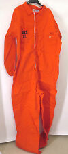 Indura Westex INS XL Orange FR 100% Cotton LS Zipper Coveralls Overalls Jumpsuit