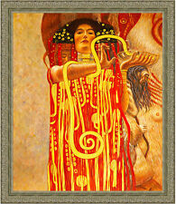 Hygeia from Medicine by Gustav Klimt 85cm x 73cm Framed Ornate Silver